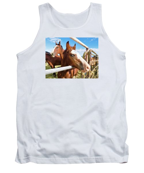 Young Blue Eyed Horse Tank Top