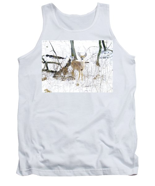 Young Doe And Spring Snow Tank Top