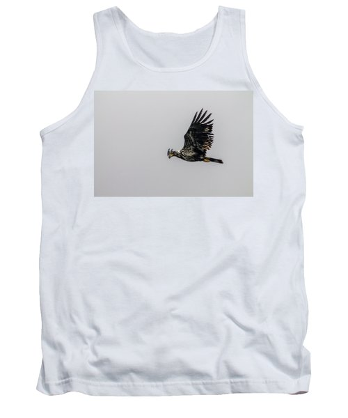 Tank Top featuring the photograph Young Eagle In Flight 07 by Timothy Latta