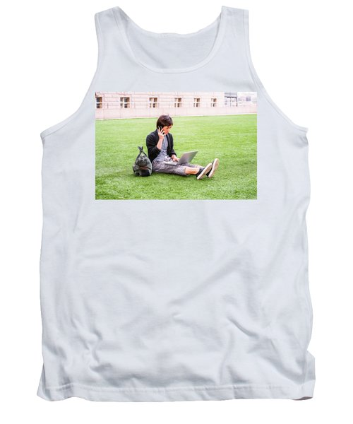 Young Japanese Man Traveling, Working In New York 15041418 Tank Top