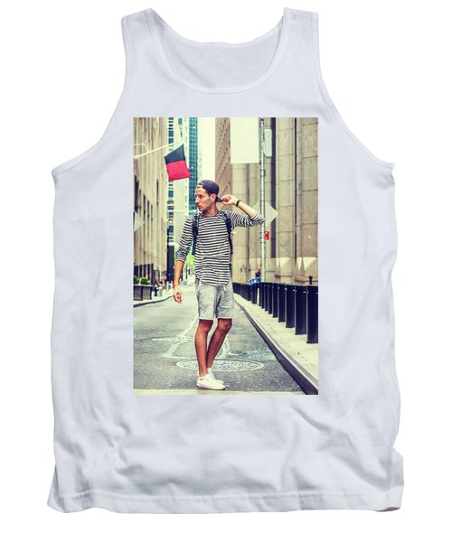 Young Russian Man Traveling In New York Tank Top