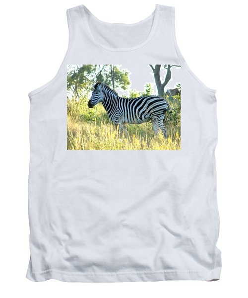 Young Zebra Tank Top by Bruce W Krucke