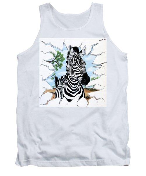 Zany Zebra Tank Top