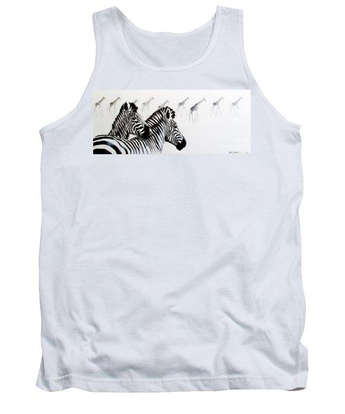 Zebra And Giraffe Tank Top