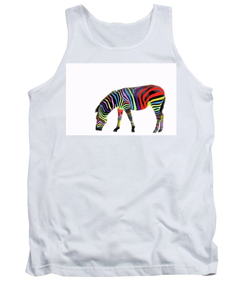 Tank Top featuring the photograph Zebra In My Dreams by Bonnie Barry