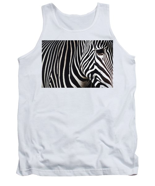 Zebra Close-up Tank Top