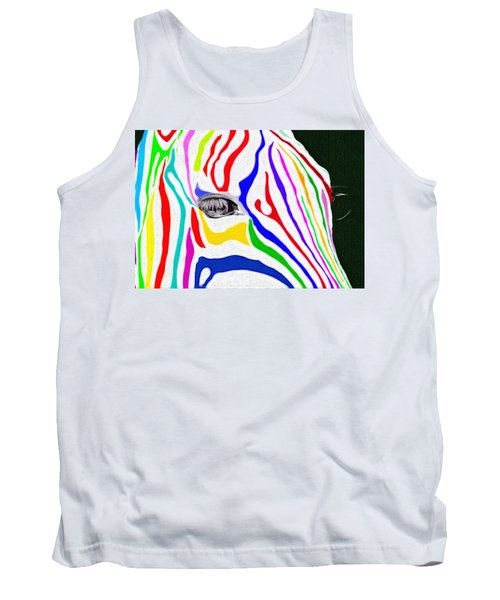 Zebra Nothing Is Black And White Tank Top