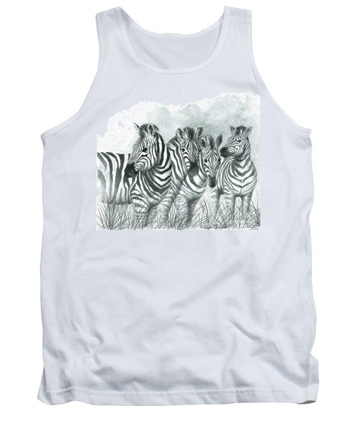 Zebra Quartet Tank Top