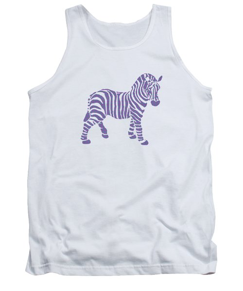 Zebra Stripes Pattern Tank Top