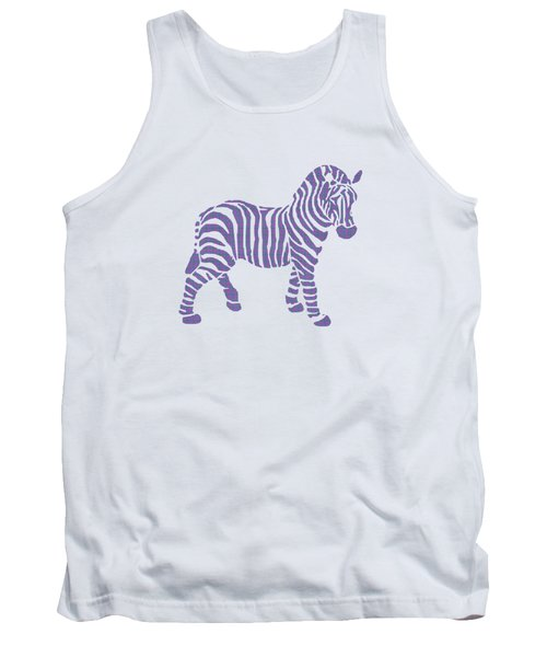 Zebra Stripes Pattern Tank Top