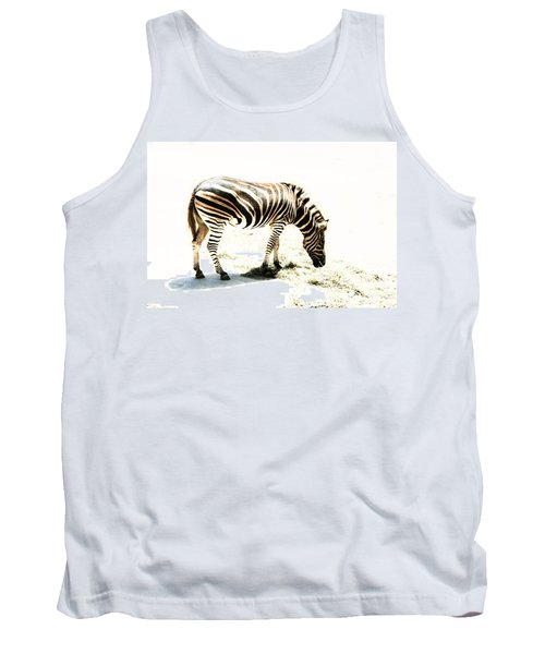Tank Top featuring the photograph Zebra Stripes by Stephen Mitchell