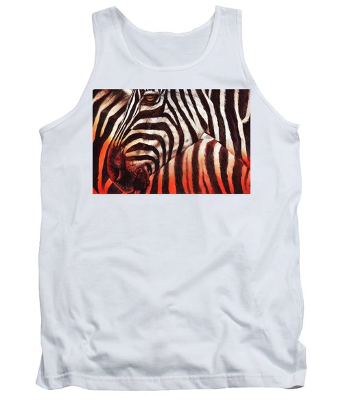 Zebra Sunset Tank Top