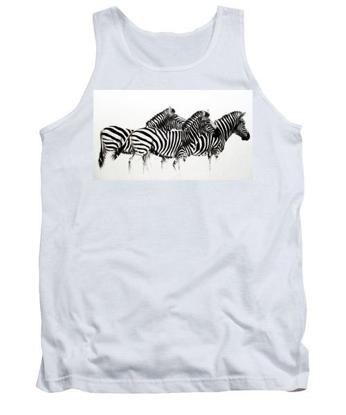 Zebras - Black And White Tank Top