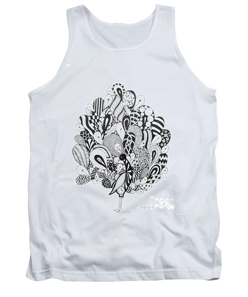 Zen Peacock Tank Top