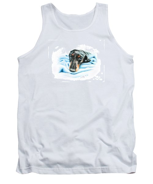 Tank Top featuring the drawing Zeus by Mike Ivey