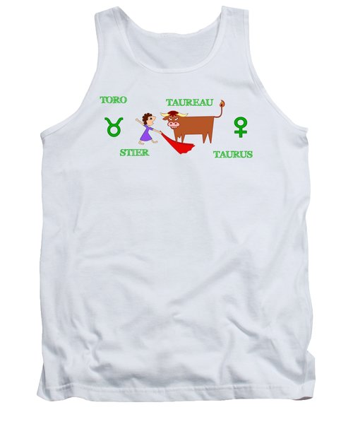 Zodiac Sign Taurus Tank Top