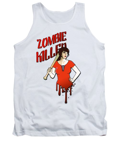 Zombie Killer Tank Top by Nicklas Gustafsson