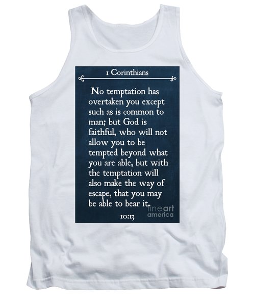 1 Corinthians 10 13- Inspirational Quotes Wall Art Collection Tank Top