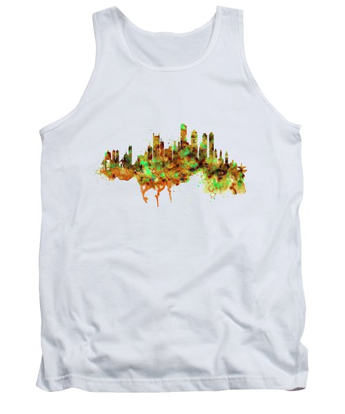 Boston Watercolor Skyline Tank Top