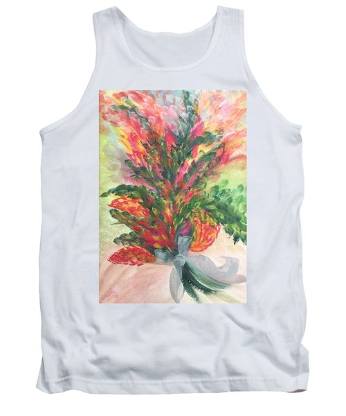 Bouquet And Ribbon Tank Top