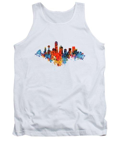 Dallas Watercolor Skyline  Tank Top