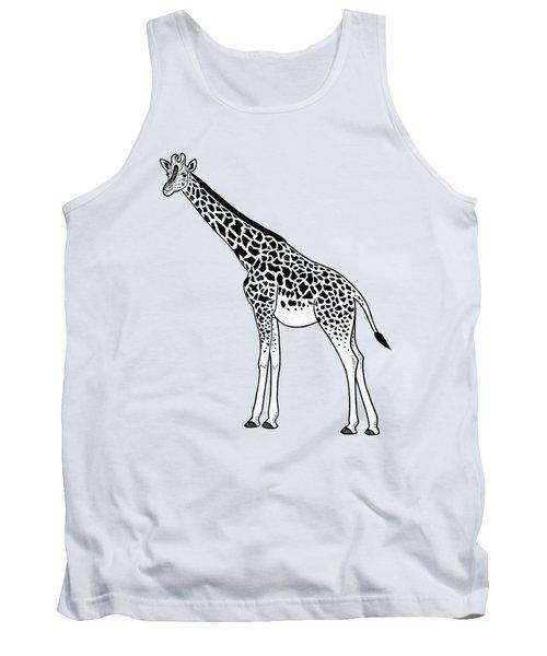 Giraffe - Ink Illustration Tank Top