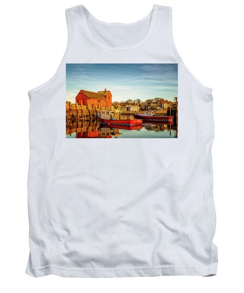 Low Tide And Lobster Boats At Motif #1 Tank Top