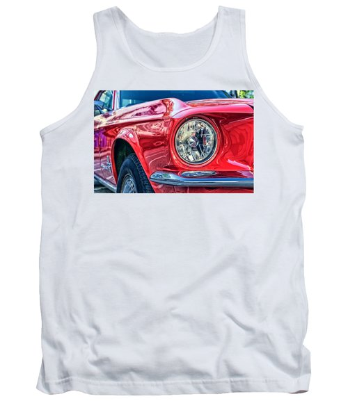 Red Vintage Car Tank Top