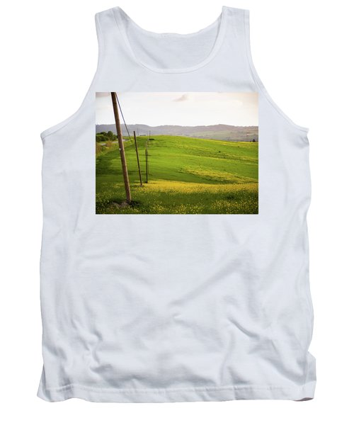 Tuscan Landscapes. Hills In The Spring Tank Top