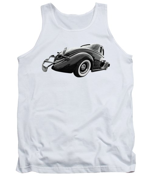 1935 Ford Coupe In Black And White Tank Top