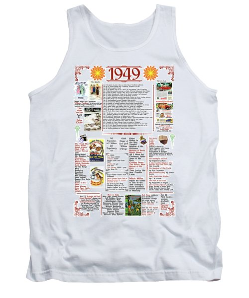 1949 Back In Time Poster, Birthday Poster Present Tank Top