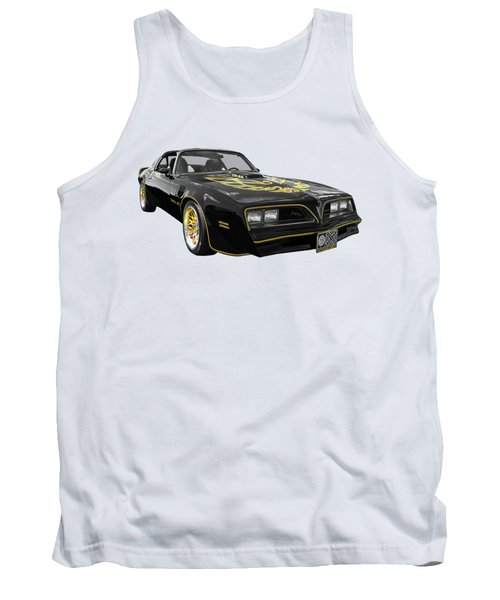 1976 Trans Am Black And Gold Tank Top