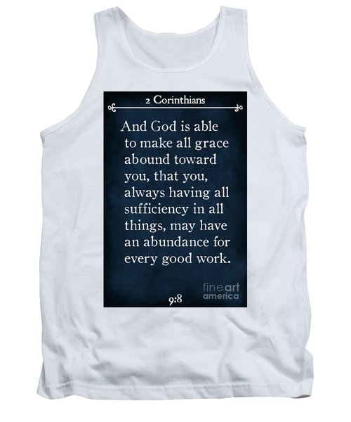 2 Corinthians 9 8-bible Verse Wall Art Collection Tank Top