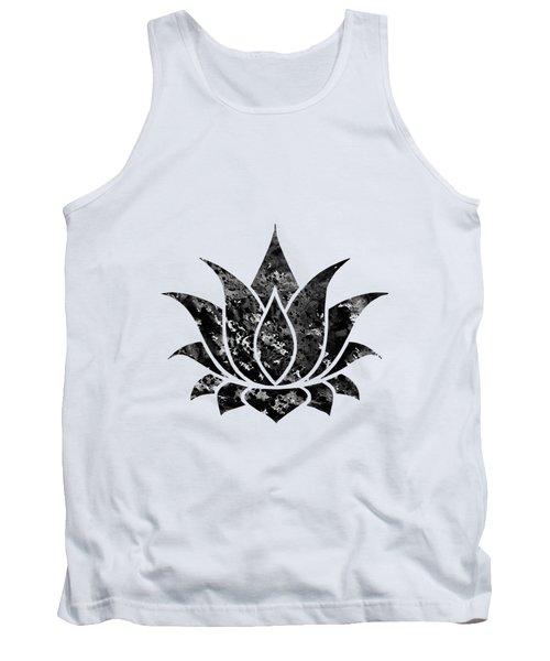 Lotus-black Tank Top