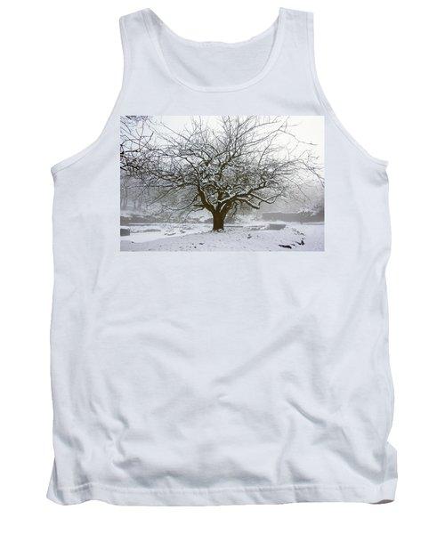 30/01/19  Rivington.  Japanese Pool. Snow Clad Tree. Tank Top