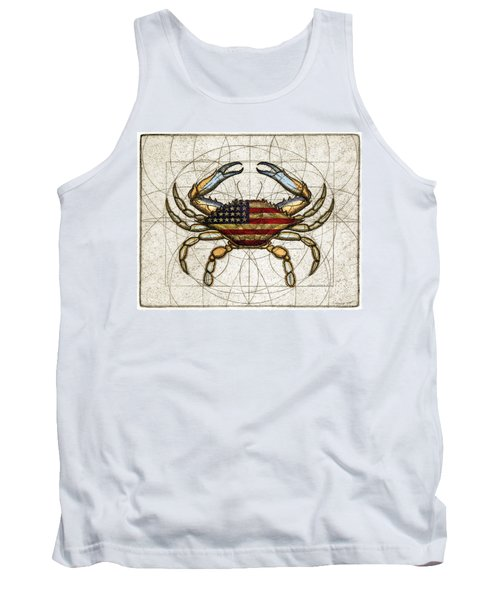 4th Of July Crab Tank Top