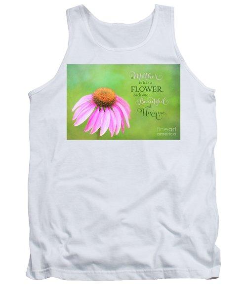 A Mother Is Lke A Flower Tank Top