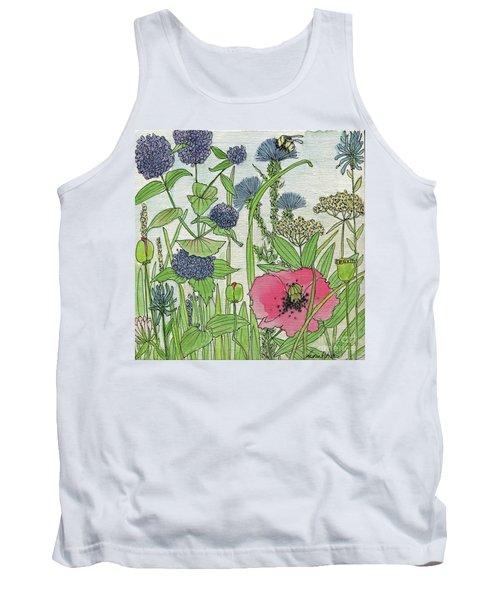 A Single Poppy Wildflowers Garden Flowers Tank Top