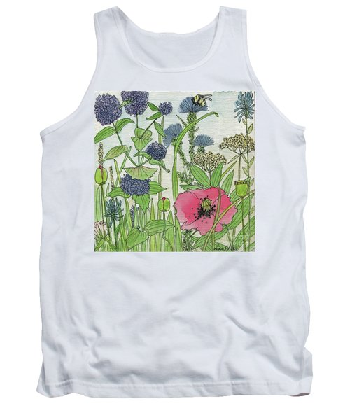 A Single Poppy Wildflowers Garden Flowers Tank Top