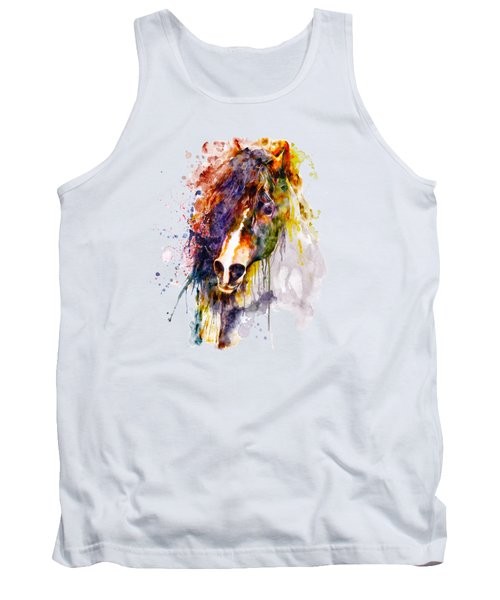 Abstract Horse Head Tank Top