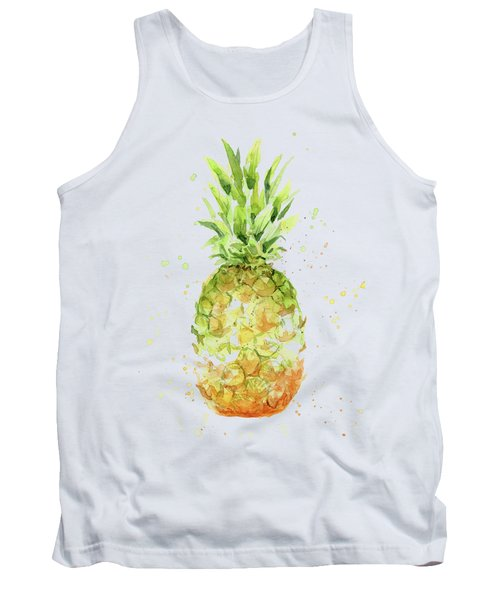 Abstract Watercolor Pineapple Tank Top