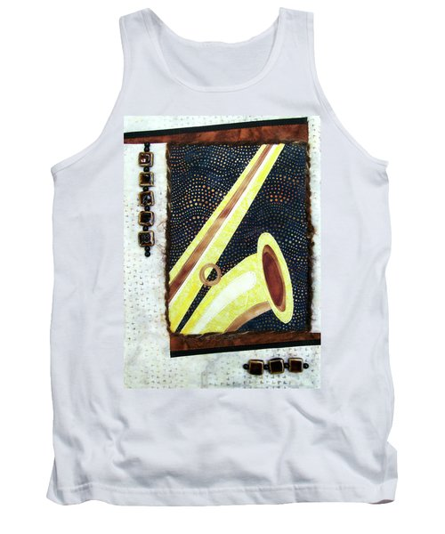 All That Jazz Saxophone Tank Top