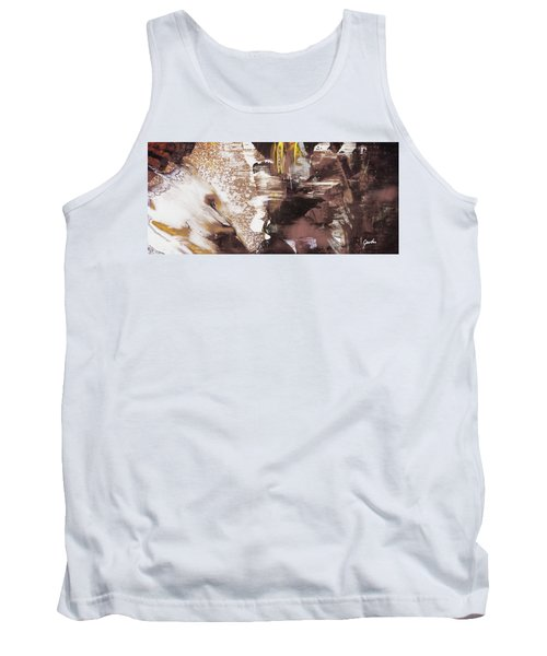 Always On My Mind - Brown Contemporary Abstract Painting Tank Top
