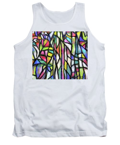 Abstract Forest Tank Top