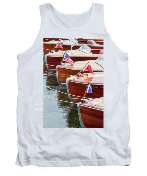 Antique Wooden Boats In A Row Portrait 1301 Tank Top