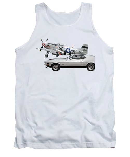 Mach 1 Mustang With P51  Tank Top