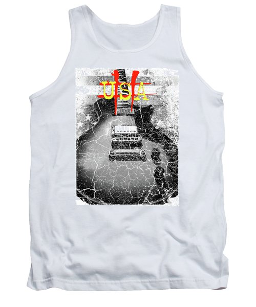 Usa Flag Guitar Relic Tank Top