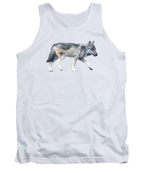 Wolf On Blush Tank Top