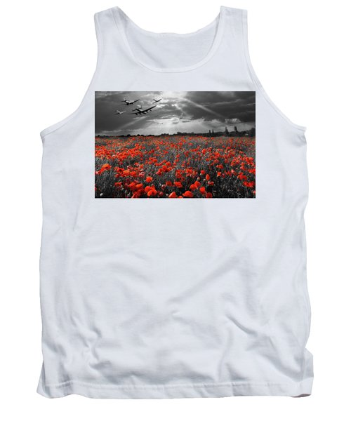 Tank Top featuring the photograph At The Going Down Of The Sun Selective Red Version by Gary Eason