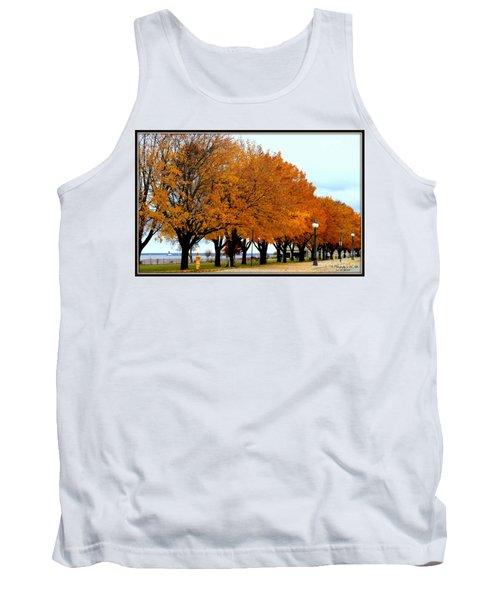 Autumn Leaves In Menominee Michigan Tank Top